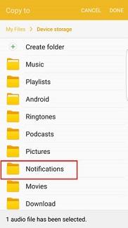 Notifications menu is selected