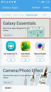 Accesati Galaxy Essentials