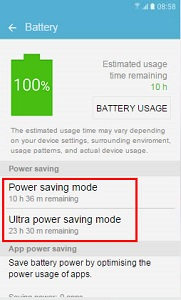 [Galaxy S7 Edge]How do I turn on Power Saving Mode?