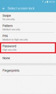how to set fingerprints on apps samsung s7