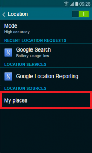How do I switch on my location and change my location settings ...